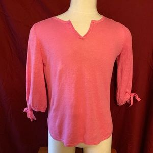 Talbots adorable pink sweater.